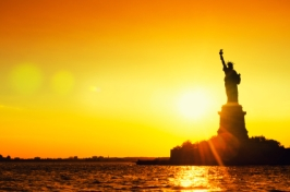 Statue of Liberty Sunset Full