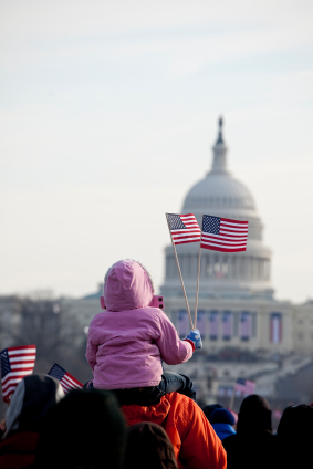 Capitol with child